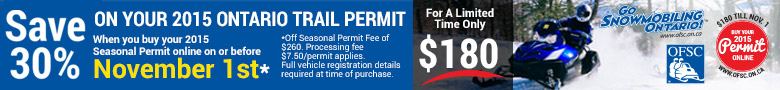 Save on your 2015 Trail Permit