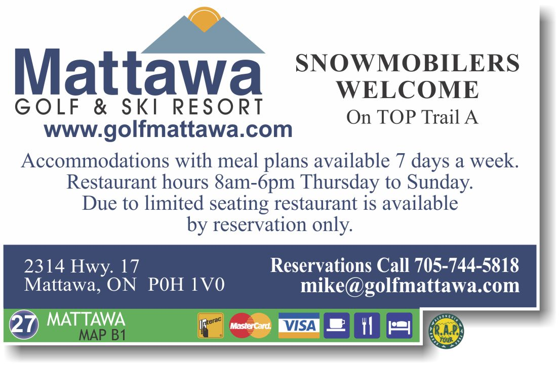 Mattawa golf and ski resort